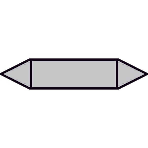 Pfeilschild Rohrleitungskennzeichnung 12,6x2,6cm Druckluft P3018