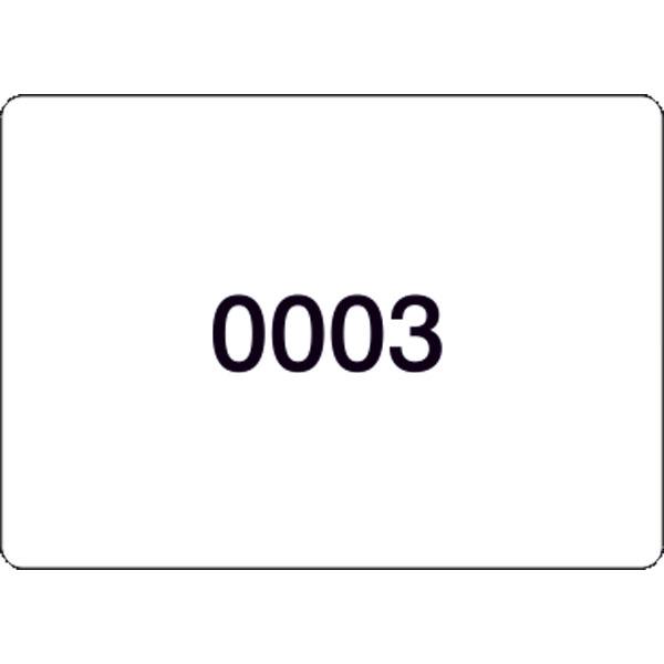 nummerierte etiketten auf rolle zahlen 1 1000. Black Bedroom Furniture Sets. Home Design Ideas