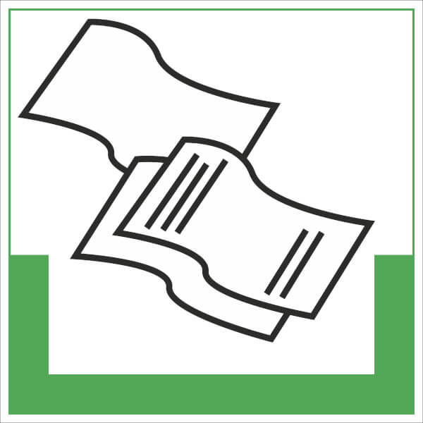 abfallkennzeichnung symbolschild papier g nstig bestellen. Black Bedroom Furniture Sets. Home Design Ideas