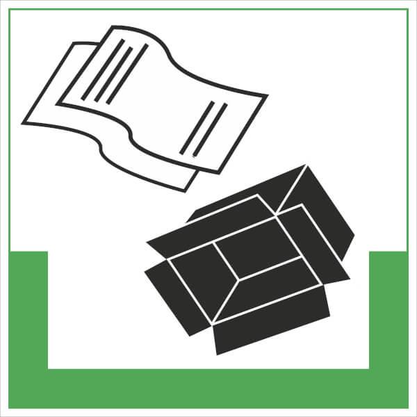 abfallkennzeichnung symbolschild papier pappe g nstig bestellen. Black Bedroom Furniture Sets. Home Design Ideas