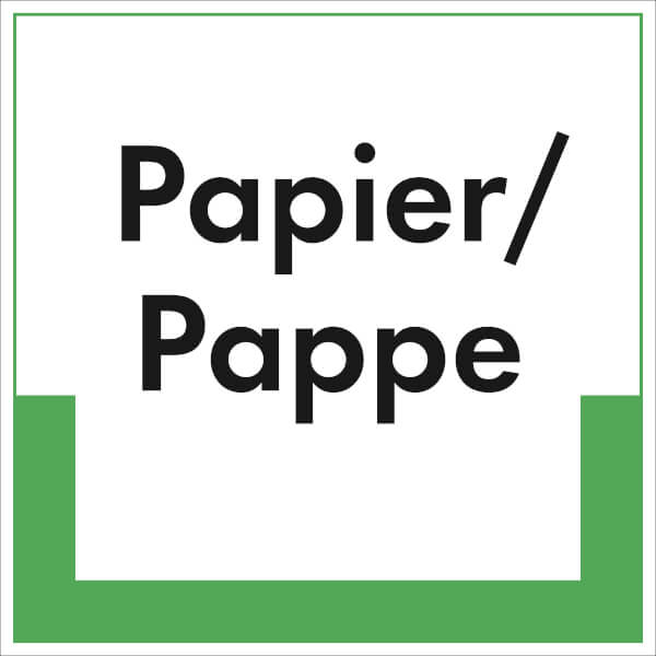 RESIGN / Textschild Papier / Pappe