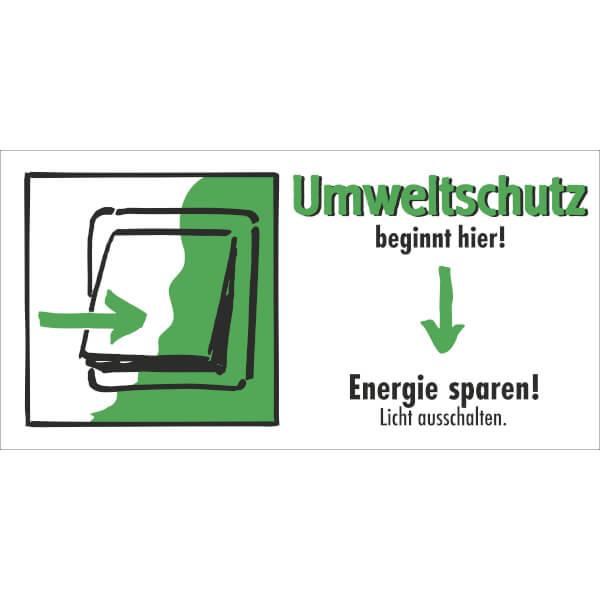 etiketten umweltschutz beginnt hier energie sparen licht ausschalten. Black Bedroom Furniture Sets. Home Design Ideas