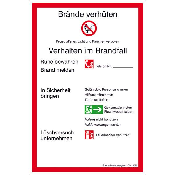 din 14096 1 aushang brandschutzordnung teil a gem din 14096 1 - Brandschutzordnung Muster