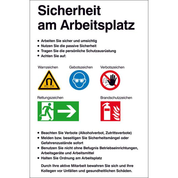 Aushang Sicherheitskennzeichnung Sicherheit Am Arbeitsplatz