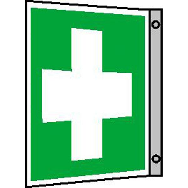 Fluchtwegschilder, Rettungsschilder nach BGV A8, ASR A1.3, DIN ... | {Erste hilfe symbol 6}