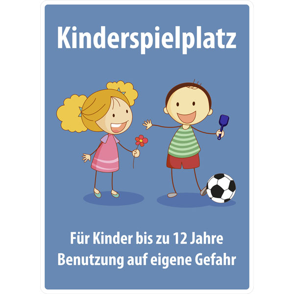 spielplatzschild kinderspielplatz f r kinder bis 12. Black Bedroom Furniture Sets. Home Design Ideas