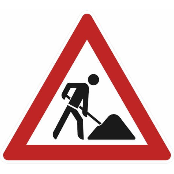 Baustelle schild clipart  Verkehrszeichen - StVO Baustelle