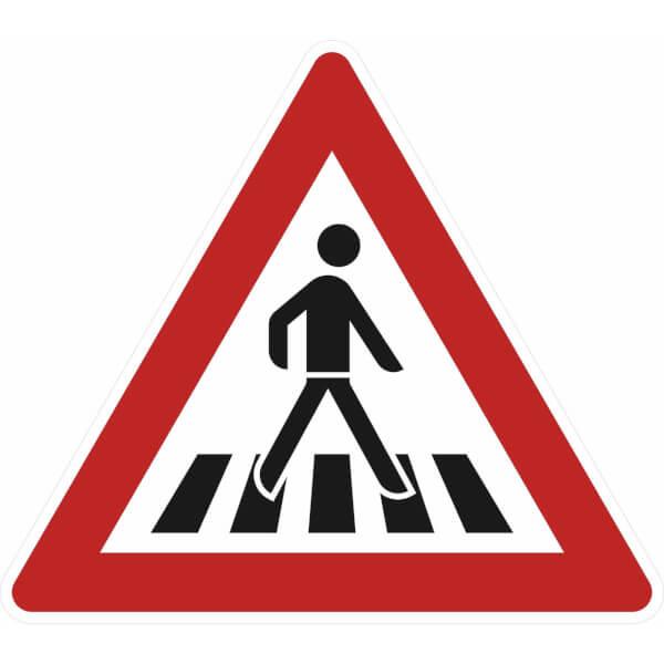 verkehrsschild nach stvo  nr 14512 fußgängerüberweg