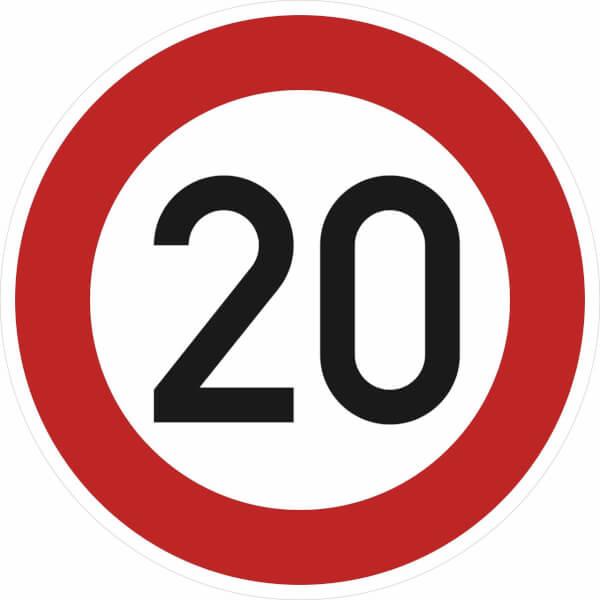Verkehrsschild nach StVO  Typ 1 Nr 27452 Zulässige