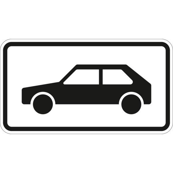 verkehrszeichen  stvo nur personenkraftwagen direkt beim
