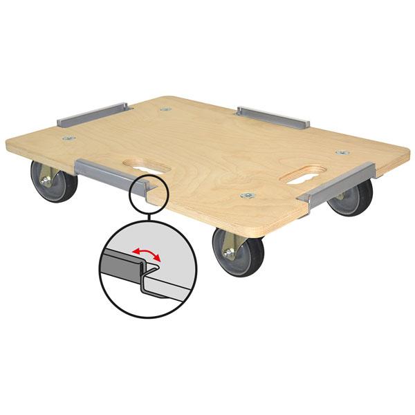 euro roller rollbrett mit 4 begrenzungselementen rollen mit thermopl gummirad grau. Black Bedroom Furniture Sets. Home Design Ideas