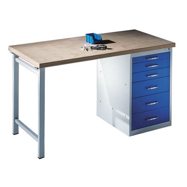 c p werkbank mit stand schubladenschrank und 6 schubladen. Black Bedroom Furniture Sets. Home Design Ideas