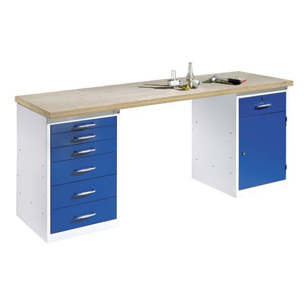 c p werkbank mit stand und schubladenschrank 6 schubladen. Black Bedroom Furniture Sets. Home Design Ideas