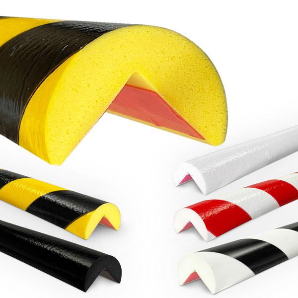 knuffi shg warn und schutzprofil eckschutz kreisform gelb schwarz. Black Bedroom Furniture Sets. Home Design Ideas