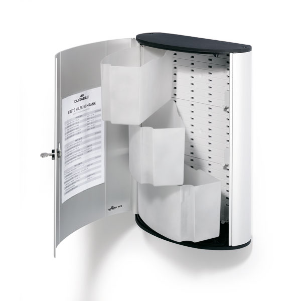 durable erste hilfe box f r f llungen nach din 13157 aluminiumgeh use mit sicherheitsschloss. Black Bedroom Furniture Sets. Home Design Ideas