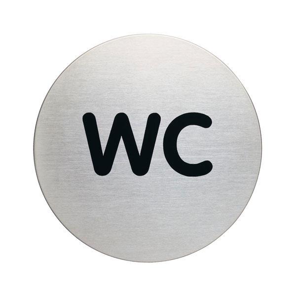Piktogramme rund Aufschrift WC