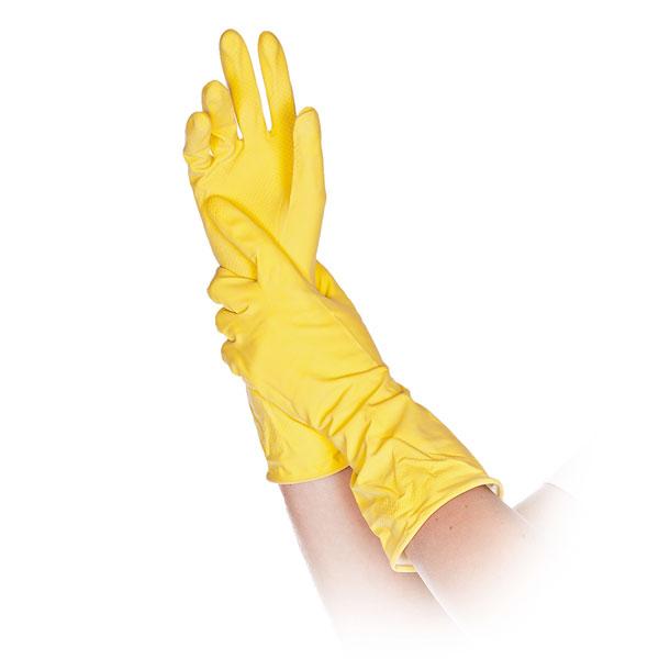 6e9ddaebc04694 Franz Mensch Putzhandschuhe Bettina gelb weiche Universalhandschuhe aus  Latex