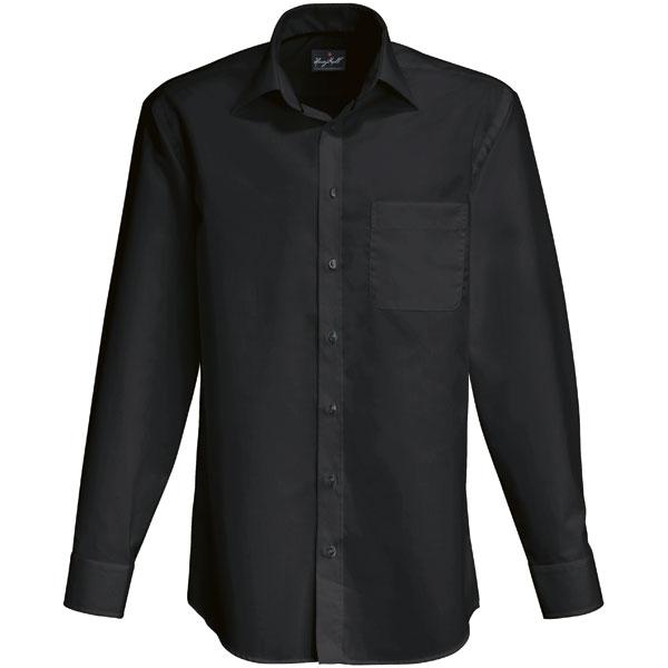 hemden businesshemden hakro business hemd langarm schwarz. Black Bedroom Furniture Sets. Home Design Ideas