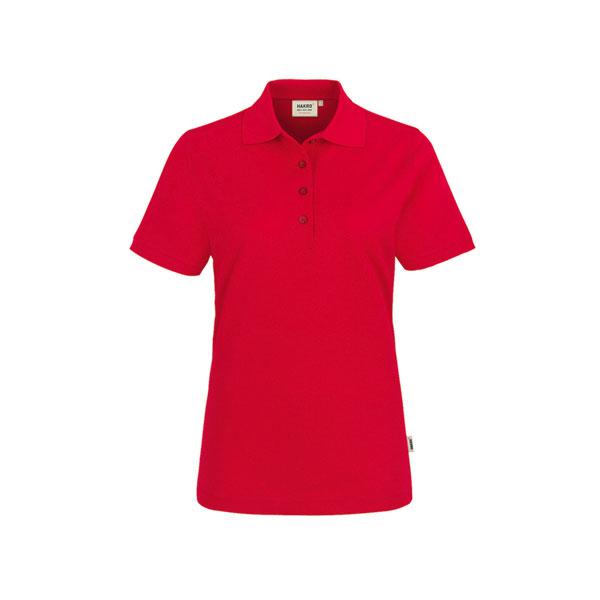 3f0a37fb46e755 Berufsbekleidung Poloshirts HAKRO Damen - Poloshirt performance, rot,