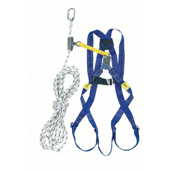 Auffangsystem Höhensicherungsgerät Stahlseil 10m Auffanggurt Absturzsicherung