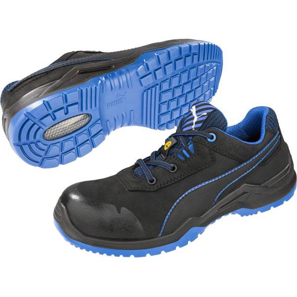 competitive price e739b 215f4 Puma Sicherheitsschuhe Argon Blue Low S3 ESD SRC Halbschuhe mit  Fiberglaskappe und flexiblem Durchtrittschutz