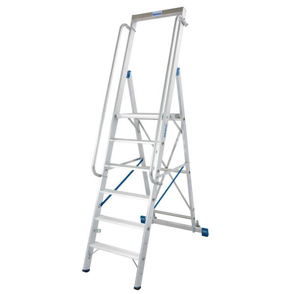 stufen stehleiter mit gro er alu plattform 8 stufig arbeitsh he ca 3 90 m standh he ca 1 90 m. Black Bedroom Furniture Sets. Home Design Ideas