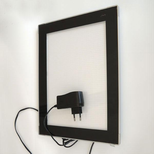 leuchtrahmen lumo bilderrahmen mit led beleuchtung f r folieneinlagen. Black Bedroom Furniture Sets. Home Design Ideas