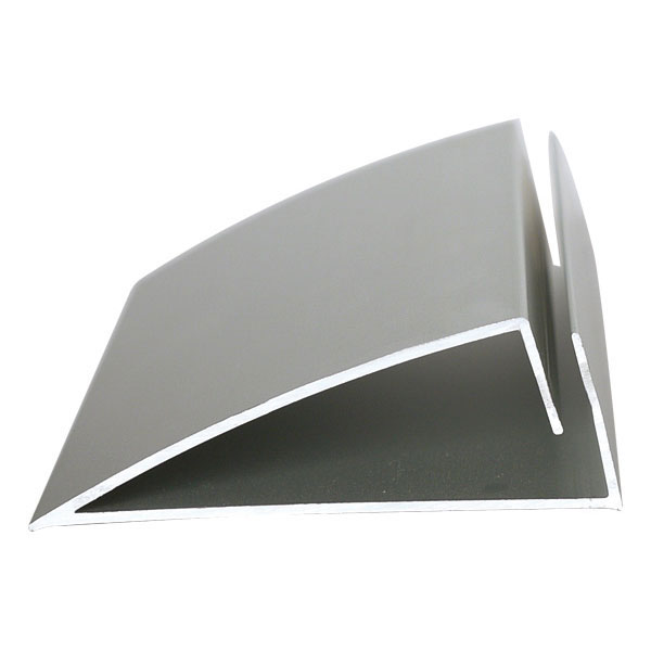 Tischaufsteller snapin aus silber eloxiertem aluminium for Design couchtisch remember in silber aus aluminium