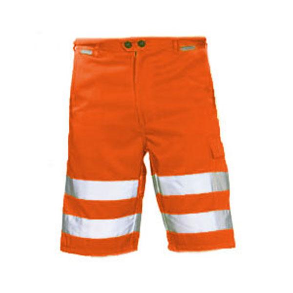 planam arbeitsshorts warnschutz orange kurze arbeitshose mit reflexstreifen. Black Bedroom Furniture Sets. Home Design Ideas