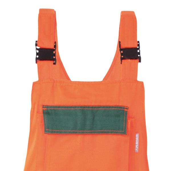 warnschutzkleidung warnschutzhosen planam warnschutz latzhose orange gr n. Black Bedroom Furniture Sets. Home Design Ideas
