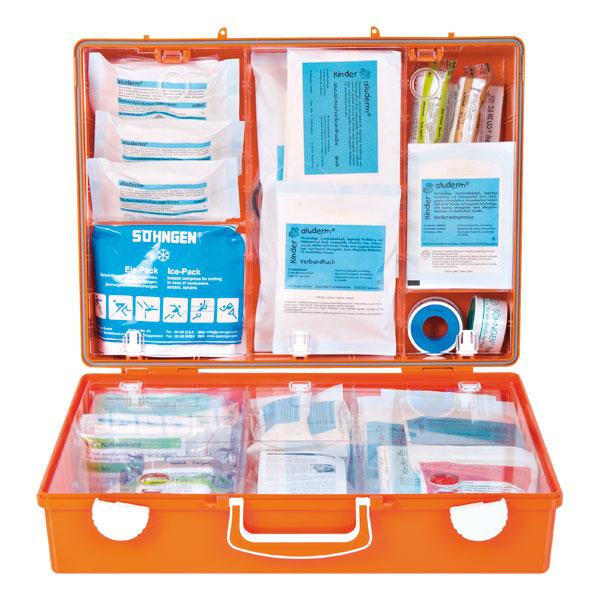 s hngen erste hilfe koffer schule xs xxl mt cd orange mit spezialverb nde in kind und. Black Bedroom Furniture Sets. Home Design Ideas