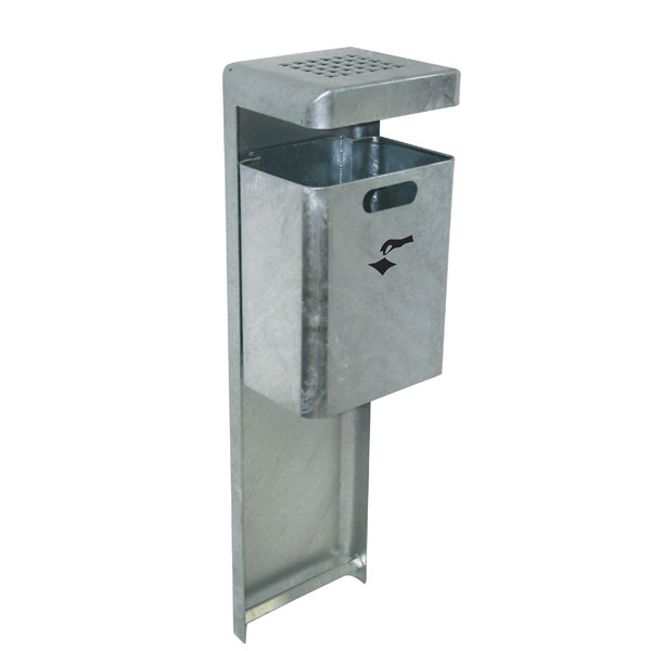 TKG Abfallbehälter Mondo Öffentlicher Mülleimer für den Außenbereich, Stahl feuerverzinkt