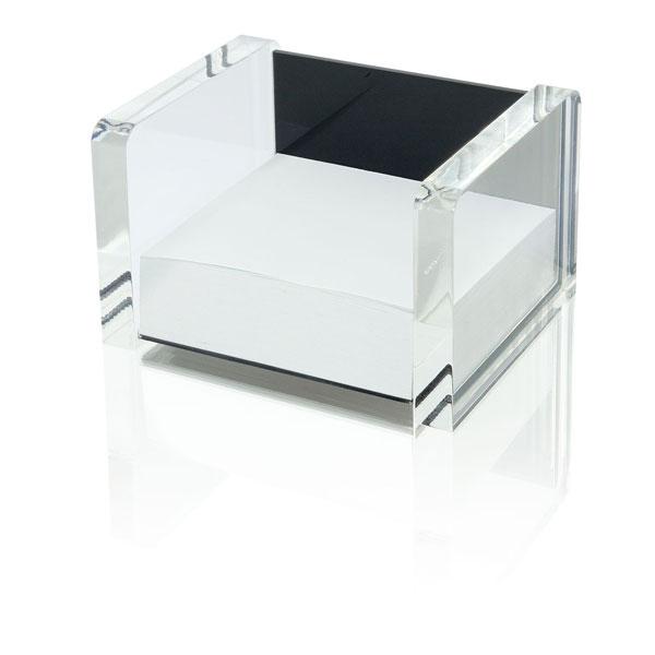 wedo zettelbox acryl exclusive farbe schwarz acrylglas inkl 500 blatt papier. Black Bedroom Furniture Sets. Home Design Ideas